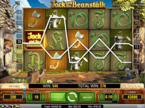 Jack and the beanstulk slotmaskinen SS