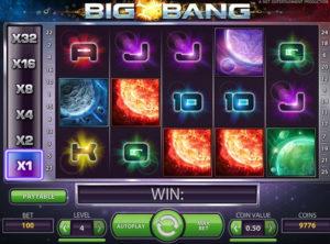 Big Bang spilleautomaten fra NetEnt - Screen shot