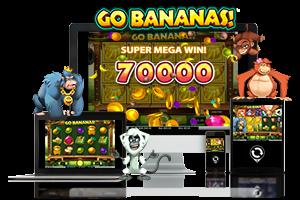 Go Bananas spil på mobil og tablet