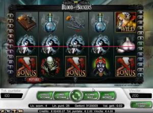 Blood Suckers slotmaskinen SS 4