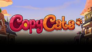 Her kan du spille Copy Cats slotmaskinen