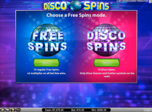 Disco Spins slotmaskinen SS 4