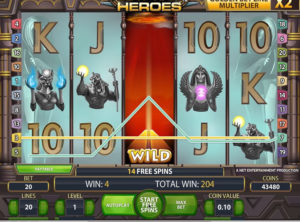 Egyptian Heroes slotmaskinen SS-07