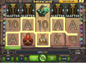 Egyptian Heroes slotmaskinen SS-09