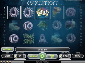 Evolution slotmaskinen SS-07