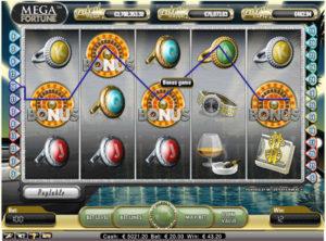 Mega Fortune slotmaskinen SS 1