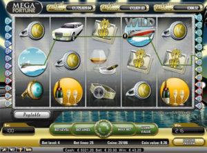 Mega Fortune slotmaskinen SS 2