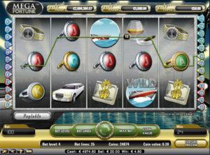 Mega Fortune slotmaskinen SS 3
