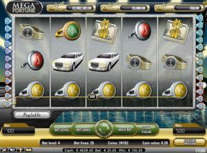 Mega Fortune slotmaskinen SS 5