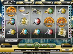 Mega Fortune slotmaskinen SS 6