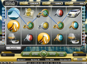 Mega Fortune slotmaskinen SS 7