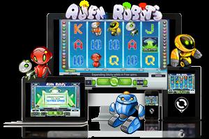 Alien Robots spil på mobil og tablet