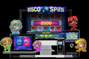 Disco spins spil på mobil og tablet