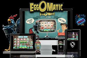 Eggomatic spil på mobil og tablet