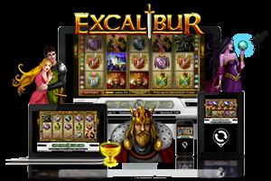 Excalibur spil på mobil og tablet