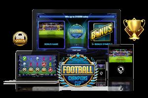 Football Champions Cup spil på mobil og tablet
