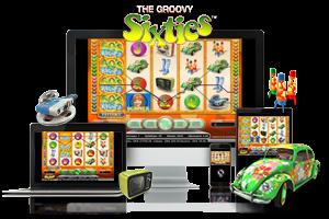 Groovy Sixties spil på mobil og tablet
