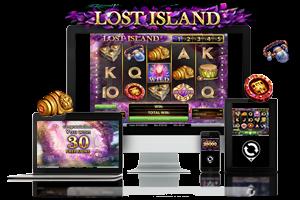 Lost Island spil på mobil og tablet