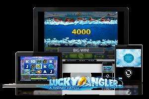 Lucky Angler spil på mobil og tablet
