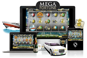 Mega fortune spil på mobil og tablet