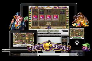 Piggy Riches spil på mobil og tablet