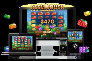 Reel Rush spil på mobil og tablet