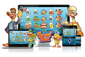 Scruffy Duck spil på mobil og tablet