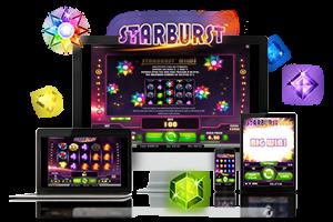 Starburst spil på mobil og tablet