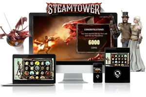 Steam Tower spil på mobil og tablet