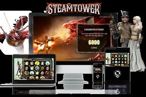 Steam Tower spil på mobil og tablet