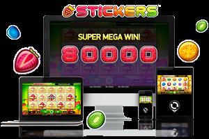 Stickers spil på mobil og tablet