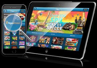 VegasWinner.dk spil på mobil & tablet