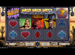 Wild Wild West: The Great Train Heist slotmaskinen SS-01