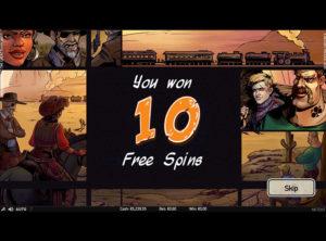 Wild Wild West: The Great Train Heist slotmaskinen SS-10