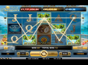 Mega Fortune Dreams slotmaskinen SS-02