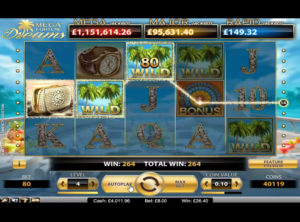 Mega Fortune Dreams slotmaskinen SS-05