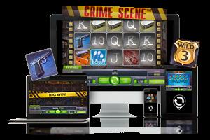 Crime Scene spil på mobil og tablet