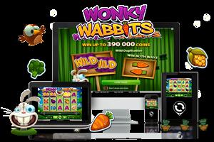 Wonky Wabbits spil på mobil og tablet
