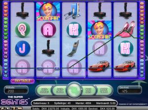 Super Eighties slotmaskinen SS-07
