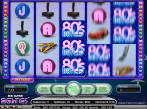 Super Eighties slotmaskinen SS-08
