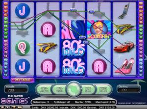 Super Eighties slotmaskinen SS-09