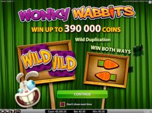 Wonky Wabbits slotmakinen SS-03