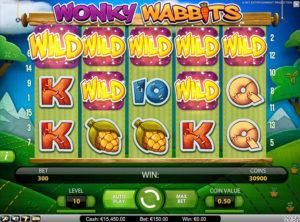 Wonky Wabbits slotmakinen SS-06