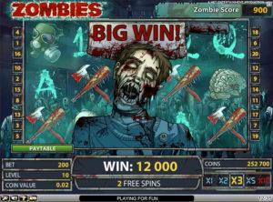 Zombies slotmaskinen SS-03