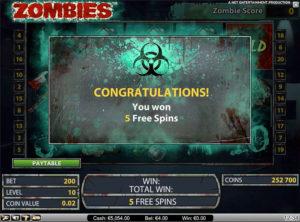 Zombies slotmaskinen SS-05