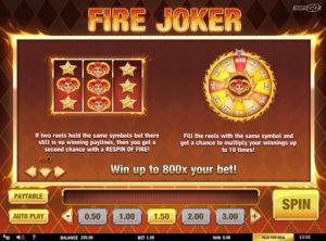 Fire Joker slotymaskinen SS-04