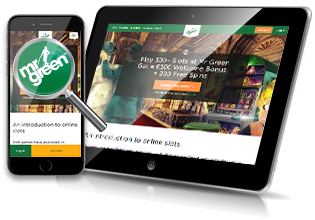 Mobil & tablet spil hos Mr. Green Casino