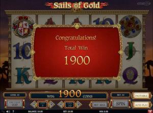 Sails of Gold slotmaskinen SS-10