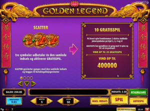 Golden Legend slotmaskinen SS-02