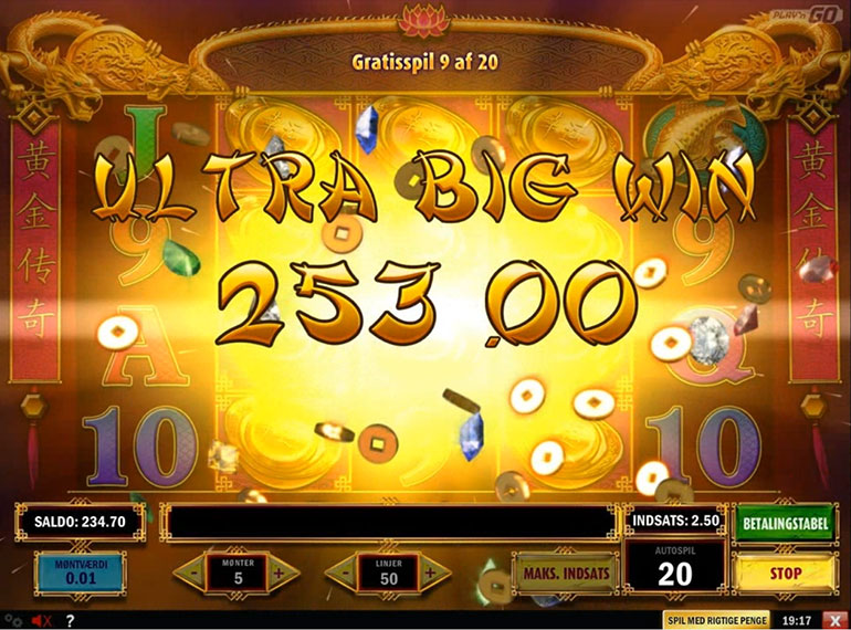 Golden legend spilleautomater